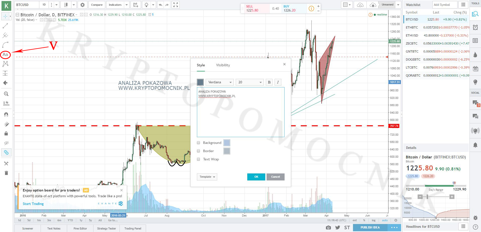 kryptopomocnik.pl Analiza techniczna tradingview